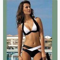 beachwear products - New products Megaerobe Women s Black White Bandage Push Up Padded Sexy Bikini Set Swimwear Bathing Wear Beachwear