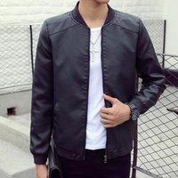 Wholesale Fall Autumn Brand Leather Jacket Men Jaqueta Couro Masculino Bomber Leather Jacket Coat Motorcycle Jacket Jaqueta Masculina