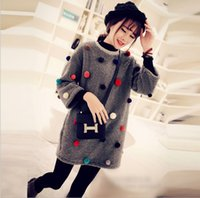 Wholesale Large size women antumn winter thickening set fury long coat high necked T shirt in two sets