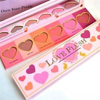 Wholesale 2016 eyeshadow New Too Love Flush Blush Wardrobe Color Heart Shaped long lasting Face Pressed Blush Kit dhl