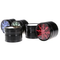 aluminium patterns - Herb grinder Diameter MM Aluminium Alloy clear Top window Lightning Pattern Tobacco spice crusher
