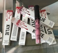 Wholesale in stock Color Presell kylie jenner lip kit lip gloss matte liquid lipsticks sets with matte lipgloss