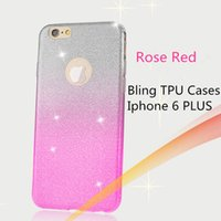 bags glitters - Gradient Color Bling Glitter Shiny Back Case for iPhone S Plus Fashion Ultra Thin Slim Elegant PC Phone Bags Cover