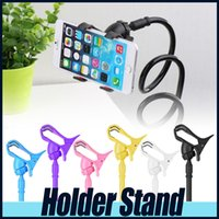 Wholesale Universal Rotating Flexible Long Arm cell phone holder stand lazy bed desktop tablet car selfie mount bracket iphone6 samsung