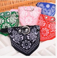 Wholesale Dog Collars Adjustable Pet Dog Cat Bandana Scarf Collar Neckerchief Brand New Mix Colors