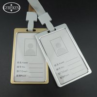 banks metal alloy - High Quality Aluminum Alloy Metal Work Card Bank Credit Card Holders Identity Badge Lanyard Id Holders badge Reel