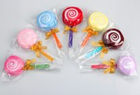 big lollipops - 2016 cotton Lollipop towel candy towel cake towel promotional gift Christmas Gift birthday gift