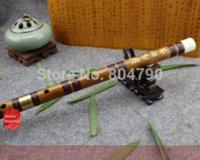 Wholesale C D E F G key Refined black line style chinese handmade Chinese Musical Instrument Bamboo Flute dizi Flute case Nice Gift