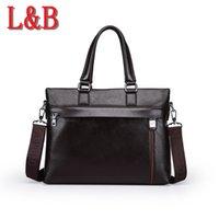 Wholesale hot brand men s business casual briefcases leather briefcase men shoulder messenger bags genuine bolsa handbag high