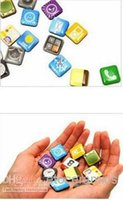 app fridge - 2011 New Cute App Apple System Icon Sharp Cartoon Refrigerator Magnet Sticker Fridge Icons
