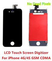 Wholesale For iPhone S Grade A No Dead Pixels LCD Touch Screen Digitizer CDMA GSM White Black