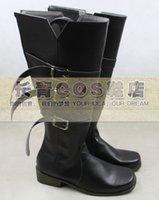 al por mayor perona una pieza cosplay-Venta al por mayor-ONE PIEZA Perona negro ver cosplay botas zapatos zapato boot # CQ047 anime Halloween Navidad