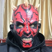 Wholesale Movie Theme Party Cosplay New Adult Star Wars Deluxe Darth Maul Latex Halloween Mask