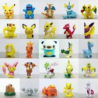 Wholesale 2016 hot Cute Pikachu toys anime Pocket Monster Toys Action Figures Pikachu furnishing articles doll Cartoon Games Mini Toy Model Kids Gift