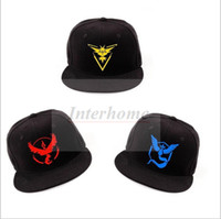 Wholesale Adult Poke Go Baseball Caps Fashion Poke Hats Casual Pikachu Caps Adjustable Poke Ball Snapbacks Hats Pocket Monster Poke Hats Hot B519