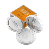 bb mirrors - Air Cushion Nude BB Cream With Sponge Mirror Concealer Moisturizing Foundation Makeup Bare Strong Whitening Face Beauty Makeup