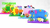 animated kids pictures - 10pcs Kids handmade Animated Photo Frames DIY Cartoon Animal EVA Foam Picture Frame