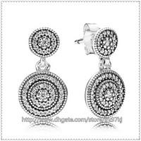 Cheap Diy Jewelry Earrings Fashion Earrings 100% 925 Sterling Silver Radiant Elegance Drop Earring Dangle Earrings Fits European Jewelry