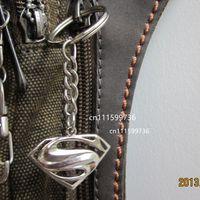 Wholesale 50pcs Superman Metal Key Chain Ring