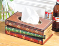 antique articles - American English Pastoral Country Style Wood Hardcover Antique Books Tissue Box Decorative Furnishing Articles As Gift For Family
