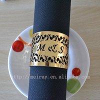 Wholesale laser cut india napkin rings for wedding gold napkin rings