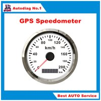 automotive gps speedometer - 85mm GPS Speedometer Stainless Waterproof Gauge KM H Speed for Car Truck V V
