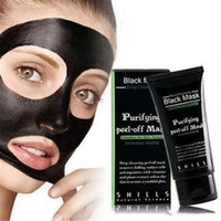 Wholesale Blackhead Remover Deep Cleansing Purifying Peel Acne Black Mud Face Mask SHILLS Deep Cleansing Peel Off Black Mud Mask