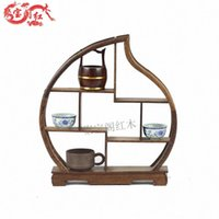 antique mahogany frame - Mahogany furniture wooden shelf wood carving a shelf frame antique Curio Cabinet accessories Home Furnishing special offer