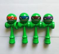 big ninja turtles - New ninja turtle Big size cm Emoji pattern Kendama Ball Japanese Traditional Wood Game Toy Education Gift Children toys