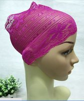 Wholesale Brand new high quality multi color lace muslim head scarf muslim scarf women muslim headscarves