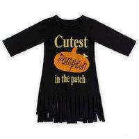 baby girl s top clothes - Toddler Kids Baby Girl Summer Clothes Halloween Children Girl Long Sleeve Tassel Tops T Shirt Dress
