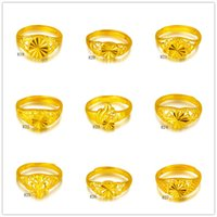 banding cart - Online for sale fashion opening women s k gold ring pieces a mixed style Cart Flower round heart yellow gold ring DFMKR3