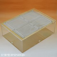 acrylic aquarium cover - Application of Ant King Hall acrylic with cover cylinder ant ecological feed box Kunming crawler aquariums insect box Does not contain the a