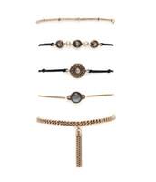2016 Nouveau design élégant Bracelets multicolores Bracelet en or Bracelet Bracelets Pendentif VintageTurquoise Bracelets Cadeau de Noël