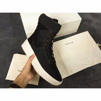 justin boots - With Original Box Fear of God Men Winter Boots Owen Shoes Top Quality Justin Bieber FOG Black White Military Boots High Street Boots