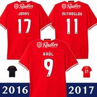2016 2017 benfica jersey de fútbol en casa camiseta roja encima de los pies maglietta da calcio camiseta de fútbol calidad de Tailandia 16 17 maillot