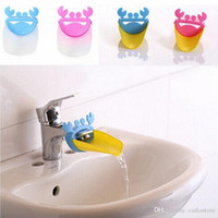 Wholesale 1Pc Faucet Extender Crab Shape Bathroom Sink For Children Kid Washing Hands E00044 SPDH