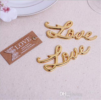 beer presents - Gold Color Love bottle opener wedding party favor gift guest present beer opener