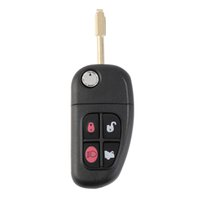 Wholesale Replacement Complete Keyless Entry Remote Key Fob Clicker Button For Jaguar NHVWB1U241 MHz With D60 Chip Uncut Blade