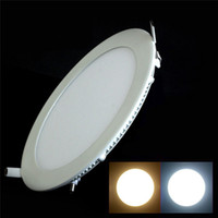 Wholesale w round Ultrathin SMD recessed LED Panel Light AC85 V warm white Cool white LED ceiling light