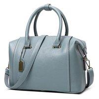 Sac 2016 New European Boston Sac à main femmes Messenger Bag Blue PU cuir Genuin Femmes Femmes Tote bolsa bolsos mujer Rouge FR086