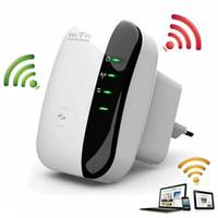 achat en gros de wifi gamme de routeur extender-Wireless-N Wifi Répéteur 802.11n / b / g Réseau Routeurs Wi-Fi 300Mbps Amplificateur Extendeur Booster Extender WIFI Ap Wps Cryptage