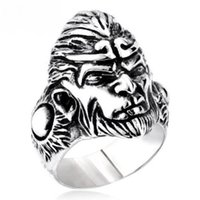 Cheap Free shipping fashion metal titanium steel charms rock personality solid Sun Wukong Goku The king of monkey power finger rings couple gift