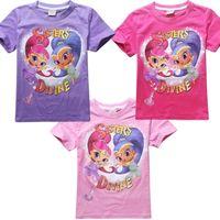 best sister shirt - best selling new cartoon desire elf sisters Shimmer and Shine Girls T shirt cotton short sleeve children