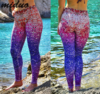 Wholesale Newest Fashion Womens D Color fish Scale Printing Leggings For Women Workout long Leggings Yoga Stretch Tights Sport Leggings