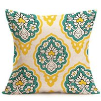 Wholesale 43 CM Geometry Pattern Throw Pillow Cover Christmas Day Home Car Party Hotel Decoration Cushion Sofa Pillow Case