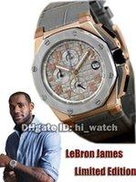 ap batteries - Super Clone Luxury AP Royal Oak Offshore LeBron James Limited Edition OI Diamond Gold Quartz Chronograph Mens Watch Watches AP a27
