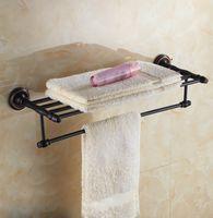 bathroom towel stands - European Style Black chrome free standing warmer bars rack Rail Doual Bar set Towel Holder Bathroom Accessories