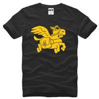 al por mayor juegos nuevos diseñadores de moda-2016 Nuevo diseñador Dota 2 juego camiseta Hombres camiseta de algodón suelta de manga corta Flying dios Dios impresa camiseta para hombre Moda masculina camiseta Top de la marca