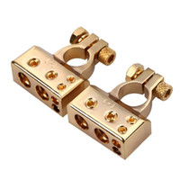 Wholesale Car Battery Terminal Positive Nagative Anode Cathode AWG Gauge for Car Audio Modification Gold Plated